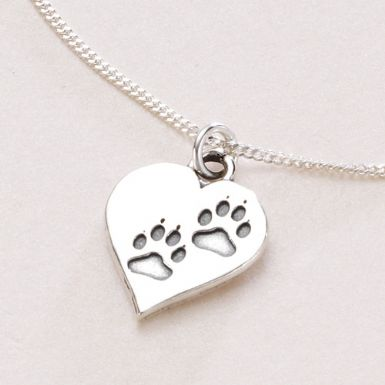 Pawprints on Your Heart Necklace | Someone Remembered